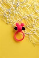 Розовое виброкольцо на пенис A-Toys - фото 1699366