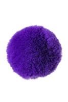 Фиолетовая анальная втулка Sweet bunny с фиолетовым пушистым хвостиком - фото 285689