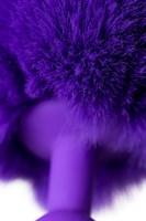 Фиолетовая анальная втулка Sweet bunny с фиолетовым пушистым хвостиком - фото 285694