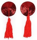Красные круглые пэстисы с кисточками - фото 363551