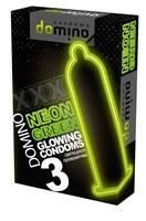 Презервативы DOMINO Neon Green со светящимся в темноте кончиком - 3 шт. - фото 55907
