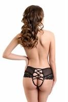 Эротические трусики с имитацией шнуровки сзади Cheryl - фото 243550