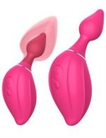 Розовый расширяющийся вибратор Daphne - 15,4 см. - фото 58071
