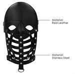 Черная маска-шлем Leather Male Mask - фото 1297524