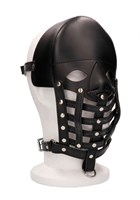 Черная маска-шлем Leather Male Mask - фото 1297525