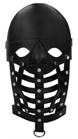Черная маска-шлем Leather Male Mask - фото 1297523