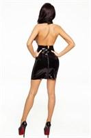Роскошная лакированная юбочка на шнуроовке - фото 169856