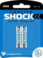 Батарейки Luxlite Shock (BLUE) типа ААА - 2 шт. - фото 372155