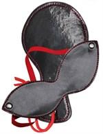 Круглая хлопалка в комплекте с маской на глаза - фото 1309386