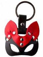 Черно-красный сувенир-брелок «Кошка» - фото 377332