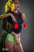 Зажимы на соски с красным пухом Euphoric - фото 1308924