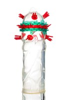 Презерватив с пучками усиков  Стимулирующая штучка №3  - 1 шт. - фото 273626