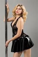 Черное лаковое платье на молнии Harlow - фото 98087