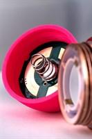 Розовый рельефный вибромассажер - 16 см. - фото 710846