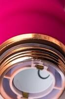 Розовый рельефный вибромассажер - 16 см. - фото 710845