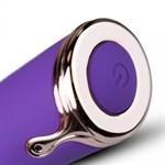 Фиолетовый вибратор-кролик The Queen Thrusting Vibrator - 29 см. - фото 101246