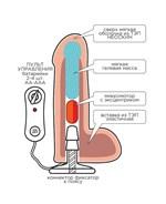 Вибрострапон Woman Midi с вагинальной пробкой - 22 см. - фото 332435