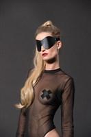 Черная сплошная маска на глаза PREMIUM EYE MASK - фото 332768