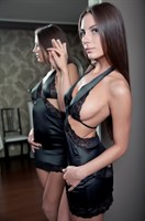 Черное мини платье Adelis - фото 1146662