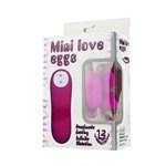 Силиконовая бабочка Mini Love Egg для массажа клитора - фото 135527