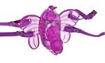 Фиолетовая вибробабочка HONEYDEW BUTTERFLY REMOTE с пультом ДУ - фото 193985