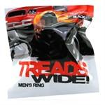 Чёрная эрекционная шина Treads Mens Ring Wide - фото 527864