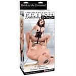 Чёрный страпон Twister Black - 22,5 см. - фото 527932
