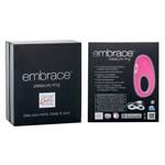 Розовое виброкольцо Embrace pleasure rings - фото 1146983