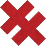 Красные пестисы  в форме крестов - фото 243398