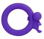 Фиолетовое эрекционное кольцо на пенис Village People Harry  - фото 243412