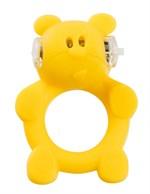 Жёлтое виброкольцо на пенис Brutal Bear - фото 1147143