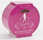 Розовая лента для связывания Bondage Tape - фото 211066