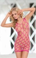 Откровенное платье-сетка с ромбовидным узором - фото 1515443