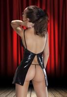 Оригинальное платье Aditi с открытой спинкой и разрезом - фото 1147454