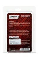 Чёрная гибкая анальная цепочка Black Red - 31 см. - фото 97080