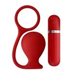 Красная вибровтулка MENZSTUFF ASS CORK WIDE - 7,5 см.  - фото 1147553