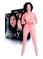 Надувная секс-кукла с реалистичным личиком и подвижными глазами  - фото 299005