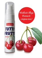 Гель-смазка Tutti-frutti с вишнёвым вкусом - 30 гр. - фото 10331
