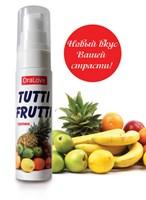 Гель-смазка Tutti-frutti со вкусом тропических фруктов - 30 гр. - фото 11541