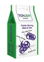 Набор фиолетовых насадок TICKLER BUNNY SLEEVE SET - фото 529079