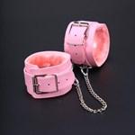 Розовые оковы на ноги из искусственной кожи - фото 211856