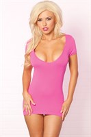 Облегающее мини-платье с разрезами на спинке PARTY IN THE BACK MINI DRESS - фото 10515