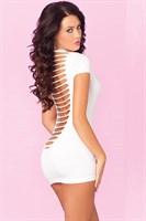 Облегающее мини-платье с разрезами на спинке PARTY IN THE BACK MINI DRESS - фото 10516
