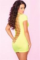 Облегающее мини-платье с разрезами на спинке PARTY IN THE BACK MINI DRESS - фото 10521