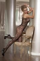 Ажурный костюм-сетка с цветочным узором - фото 529214