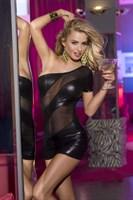 Клубное платье с открытым плечом - фото 1147991