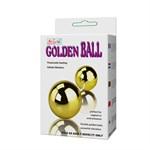 Золотистые шарики с вибрацией Goden Balls - фото 453275