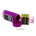 Лиловый вибратор Body Touch II с реакцией на прикосновения - 22 см. - фото 10829