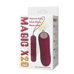 Розовая вибропуля Magic X20 с дистанционным пультом управления 20 режимами вибрации - фото 11014