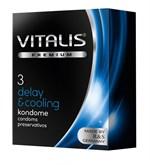 Презервативы VITALIS PREMIUM delay   cooling с охлаждающим эффектом - 3 шт. - фото 11050